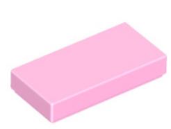 LEGO alkatrész - Bright Pink Tile 1 x 2 with Groove