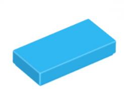 LEGO alkatrész - Dark Azure Tile 1 x 2 with Groove