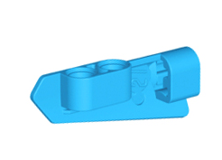 Lego alkatrész - Dark Azure Technic, Panel Fairing #21 Very Small Smooth, Side B