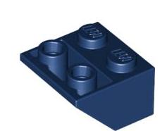 Lego alkatrész - Dark Blue Slope, Inverted 45 2 x 2