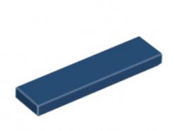 LEGO alkatrész - Dark Blue Tile 1 x 4