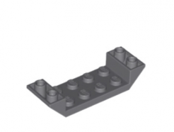 Lego alkatrész - Dark Bluish Gray Slope, Inverted 45 6 x 2 Double with 2 x 4 Cutout