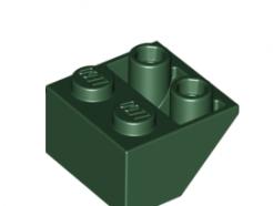 Lego alkatrész - Dark Green Slope, Inverted 45 2 x 2