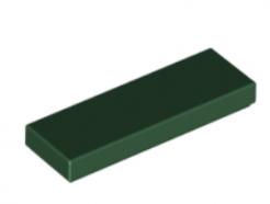 LEGO alaktrész - Dark Green Tile 1 x 3