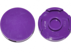 Lego alkatrész - Dark Purple Tile, Round 2 x 2 with Bottom Stud Holder