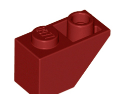 Lego alkatrész - Dark Red Slope, Inverted 45 2 x 1