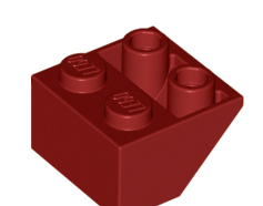 Lego alkatrész - Dark Red Slope, Inverted 45 2 x 2