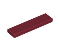LEGO alkatrész - Dark Red Tile 1 x 4