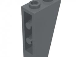 Lego alkatrész - Dark Bluish Gray Slope, Inverted 75 2 x 1 x 3