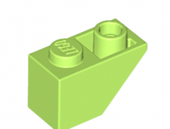 Lego alkatrész - Lime Slope, Inverted 45 2 x 1