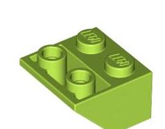 Lego alkatrész - Lime Slope, Inverted 45 2 x 2