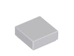 Lego alkatrész - Light Bluish Gray Tile 1 x 1 with Groove