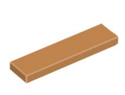 LEGO alkatrész - Medium Dark Flesh Tile 1 x 4