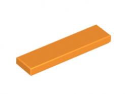 LEGO alkatrész - Orange Tile 1 x 4