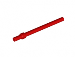 Lego alkatrész - Red bar 6L with stop ring