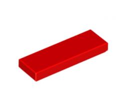 LEGO alkatrész - Red Tile 1 x 3