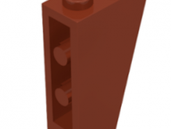 Lego alkatrész - Reddish Brown Slope, Inverted 75 2 x 1 x 3