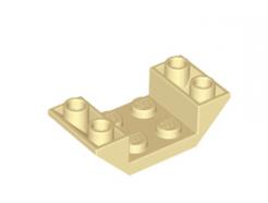 Lego alkatrész - Tan Slope, Inverted 45 4 x 2 Double