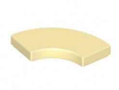 Lego alkatrész - Tan Tile, Round Corner 2 x 2 Macaroni
