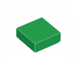 Lego alkatrész - Green Tile 1 x 1 with Groove