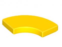 Lego alkatrész - Yellow Tile, Round Corner 2 x 2 Macaroni