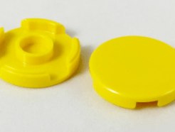 Lego alkatrész - Yellow Tile, Round 2 x 2 with Bottom Stud Holder