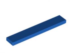 LEGO alaktrész - Blue Tile 1 x 6