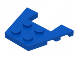 LEGO alkatrész - Blue Wedge, Plate 3 x 4 with Stud Notches