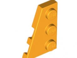 LEGO alkatrész - Bright Light Orange Wedge, Plate 3 x 2 Left
