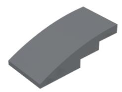 LEGO alkatrész - Dark Bluish Gray Slope, Curved 4 x 2 No Studs