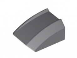 LEGO alkatrész - Dark Bluish Gray Slope, Curved 2 x 2 Lip, No Studs