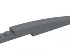 LEGO alkatrész - Dark Bluish Gray Slope, Curved 10 x 1
