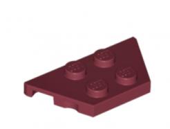 LEGO alkatrész - Dark Red Wedge, Plate 2 x 4