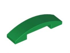 LEGO alkatrész - Green Slope, Curved 4 x 1 Double No Studs