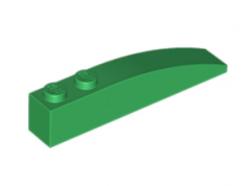 LEGO alkatrész - Green Slope, Curved 6 x 1