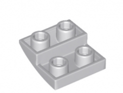 LEGO alkatrész - Light Bluish Gray Slope, Curved 2 x 2 Inverted