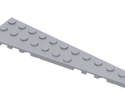 LEGO aklatrész - Light Bluish Gray Wedge, Plate 12 x 3 Right
