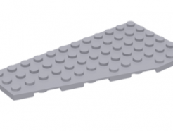 LEGO alkatrész - Light Bluish Gray Wedge, Plate 12 x 6 Left