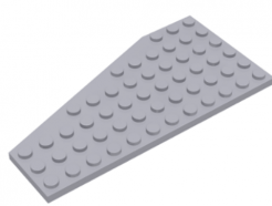 LEGO alkatrész - Light Bluish Gray Wedge, Plate 12 x 6 Right