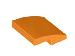 LEGO alkatrész - Orange Slope, Curved 2 x 2 No Studs