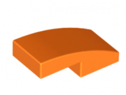 LEGO alkatrész - Orange Slope, Curved 2 x 1 No Studs