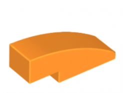 LEGO alkatrész - Orange Slope, Curved 3 x 1 No Studs