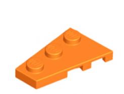 LEGO alkatrész - Orange Wedge, Plate 3 x 2 Left