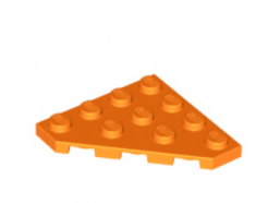 LEGO alkatrész - Orange Wedge, Plate 4 x 4 Cut Corner