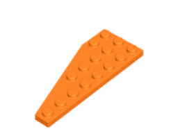 LEGO alkatrész - Orange Wedge, Plate 8 x 3 Right