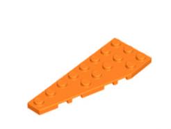 LEGO alkatrész - Orange Wedge, Plate 8 x 3 Left