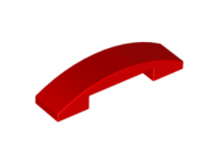 LEGO alkatrész - Red Slope, Curved 4 x 1 Double No Studs