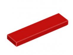 LEGO alkatrész - Red Tile 1 x 4