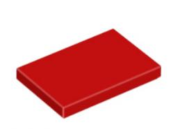 LEGO alkatrész - Red Tile 2 x 3