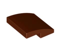 LEGO alatrész - Reddish Brown Slope, Curved 2 x 2 No Studs